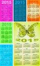 集合五颜六色的口袋日历在  免版税图库摄影