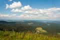 风景在 尔德伯格德国在 森林里。 免版税库存照片