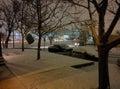 风雪在亚伯科基 免版税库存图片