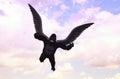 飞行大猩猩 想图象例证 免版税图库摄影