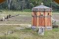 马的低谷在一个农场在托斯卡纳 免版税图库摄影