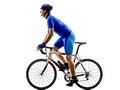 骑自行车者自行车道自行车剪影 库存照片