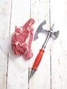 鲜肉原始的牛排 库存照片