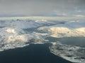 鸟瞰图, tromsoe挪威 库存图片