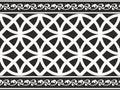 黑色边界花卉哥特式无缝的白色 免版税库存照片