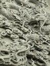 龙雕象石制品 免版税库存照片