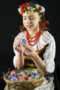 διακόσμηση του αυγού Πάσ&ch Στοκ Εικόνες