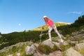 девушка на горе pirin Стоковое Изображение