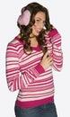 девушка earmuffs предназначенная для подростков Стоковое фото RF