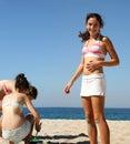 девушки пляжа Стоковая Фотография