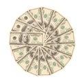 доллары 100 много Стоковое фото RF