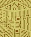 дом картины хо ста к ючей геометрической абстрактной Стоковые Фото