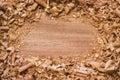 древесина предпосылки текстурированная shavings Стоковое Фото