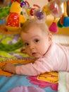 婴孩一点作用 免版税库存照片