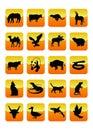 03 djursymboler Arkivbild