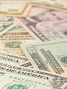 1, 5, 10 and 20 US Currency Stock Images