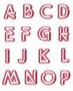 1 capital letters neon Στοκ Φωτογραφία