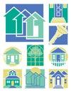 1 collection home logos Arkivbilder