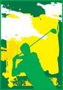 1 golfswing Arkivfoto