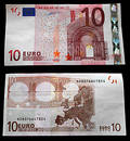 10 Euros. Head and the reverse Stock Image