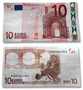 10 Euros. Head and the reverse Stock Photos