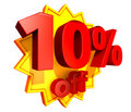 10 percent price off discount Royalty Free Stock Photo