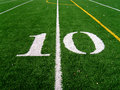 10 Yard Line Royalty Free Stock Images