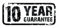 10 year guarantee stamp Stock Photography