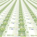 100 ευρώ ανασκόπησης Στοκ Φωτογραφία