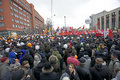 100,000 join Moscow Sakharov avenue protest rally Royalty Free Stock Photos