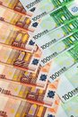 100 and 50 Euro banknotes. Stock Photos