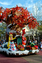 100 Acre Woods on Holiday Parade. Royalty Free Stock Image