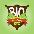 100% bio products badge Royalty Free Stock Photos