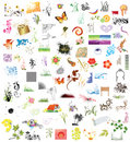 100 Design elements Royalty Free Stock Photo