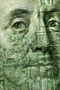 100 Dollar bill closeup Royalty Free Stock Photo