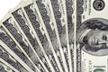 100 dollar bills close up Royalty Free Stock Photo