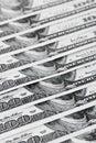 100 dollars de factures commandés Images libres de droits
