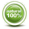 100% environmental web push button Stock Image