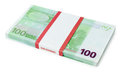 100 euros batch Royalty Free Stock Photos
