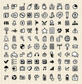 100 hand draw web icons Royalty Free Stock Images