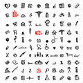 100 medical icons, sketch for your design Stock Photography