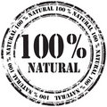 %100 natural grunge rubber stamp background Royalty Free Stock Photo