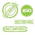 100% natural grunge stamp set