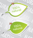 100% natural stickers Royalty Free Stock Images