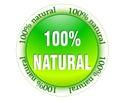 100% natural web glossy icon Royalty Free Stock Photo