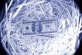 100 notas de banco do dólar americano Foto de Stock Royalty Free