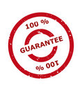 100 percent guarantee stamp Stock Photo