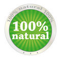 100 percent natural Stock Photography