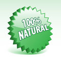 100 percent natural badge. Royalty Free Stock Image