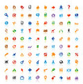 100 perfect icons Royalty Free Stock Photos